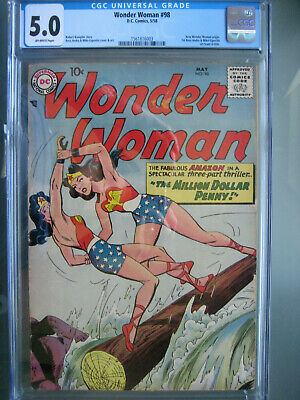 Wonder Woman #98 First Printing CGC 5.0 **New Origin** DC Comics 1958