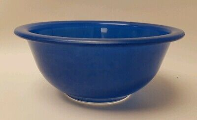 Vintage Pyrex Cobalt Blue Clear Bottom Mixing Nesting Bowl 322 Small 1 L