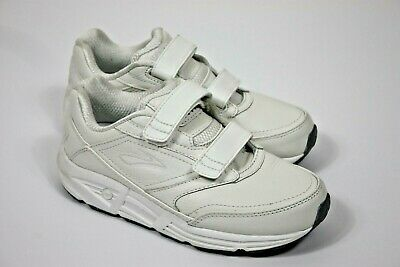 87be4a016a4 Brooks Addiction Walker Athletic Walking Comfort Shoes Sz 6.5 Cream White  Velcro