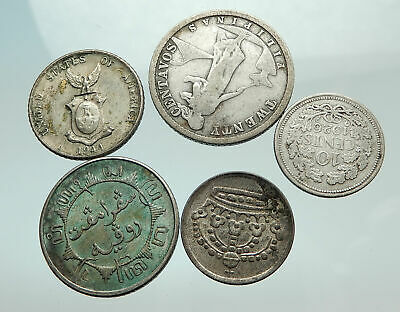 GROUP LOT of 5 Old SILVER Europe or Other WORLD Coins for your COLLECTION i75680