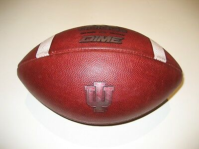 1649b5d0be8 INDIANA HOOSIERS GAME USED Adidas Dime Football - University ...