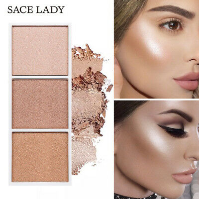 SACE LADY 4Colors Highlighter Palette Makeup Face Shimmer Contour Powder Make Up