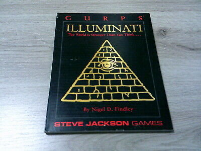 GURPS 3rd Edition Illuminati Sourcebook 1992 Softcover Steve Jackson Games