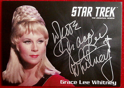 STAR TREK TOS 50th GRACE LEE WHITNEY as Yeoman Rand, VERY LIMITED Autograph Card