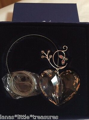 NIB Signed 2007 SWAROVSKI CRYSTAL HEART ORNAMENT * ANNUAL EDITION * 0886104