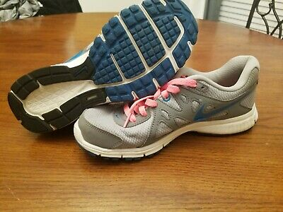 a2f9ca90f48b0 Womens 7.5 Nike Revolution 2 Grey Turquoise Pink 554900-006 running shoes