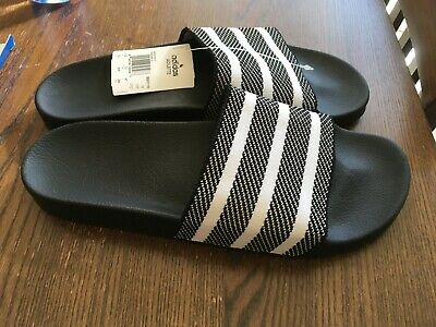 a357bf8e8a2 adidas Adilette Primeknit Slides Sandals Black Mens Size 12 Brand New In Box
