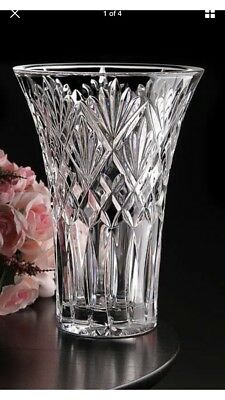 "BRAND NEW Waterford Crystal Vase ""Cassidy"" 10 Inch RARE"