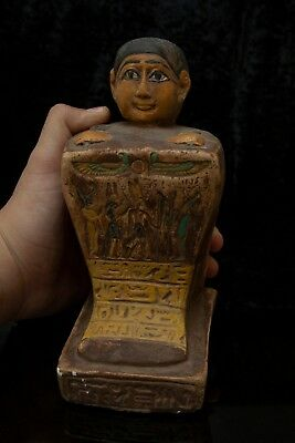 Rare ANCIENT EGYPTIAN ANTIQUES EGYPT God Amun Block STATUE Limestone 1353 BC