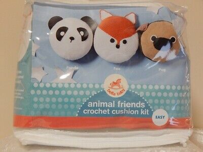 Bella Baby Animal Friends Crochet Cushion Kit - Panda