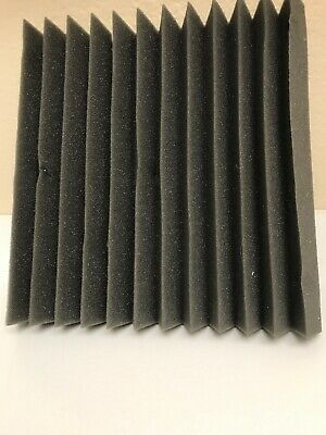 """24 Pack 1"""" x 12"""" x 12"""" Acoustic Foam Tiles Panel Wedge Studio Soundproofing Wall"""