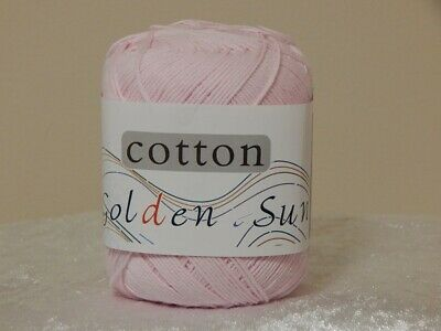 Golden Sun Knitting/Crochet Cotton Pink 50gm Ball