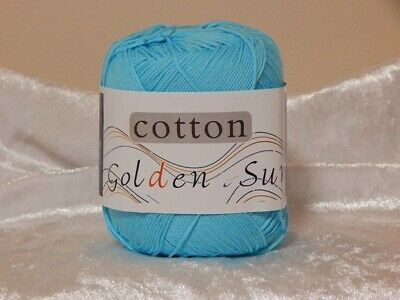 Golden Sun Knitting/Crochet Cotton Blue 50gm Ball