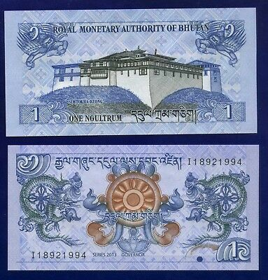 Bhutan 1 Ngultrum 2013 P27 Uncirculated Eu-1