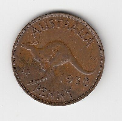 1938 Australia Kgvi Penny - Nice Collectable Vintage Coin