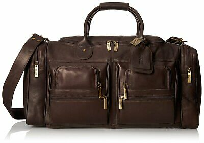 Claire Chase Executive Sport Leather Duffel - XL Travel Bag, Carry on