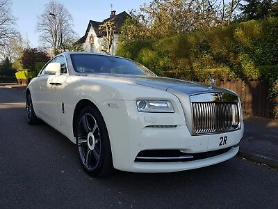 Lhd Rolls Royce Wraith 2014 6.6 V12 White Silver - Low Miles!