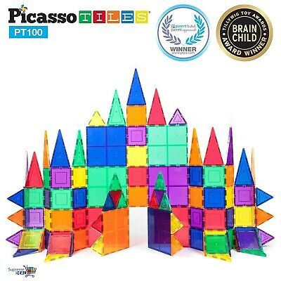Magnetic Building Blocks PicassoTiles Construction Playboards Educational 100pcs
