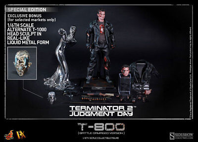 """Hot toys 12"""" Terminator 2 T-800 DX-13 Battle Damaged Exclusive (Special Edition)"""