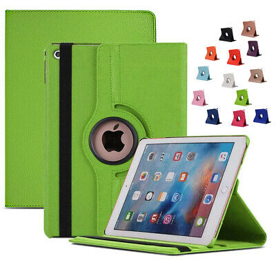 New iPad Case 360 Rotation Leather Stand Cover Fits Apple iPad 6th Gen 2018 9.7""