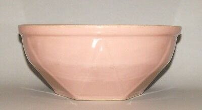 Facet Sided Mixing Bowl Pink Diana Pottery Australia Vintage Kitchenware
