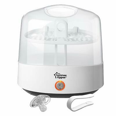 Baby Bottle Electric Steriliser Tommee Tippee Steam White Chemical-Free Compact