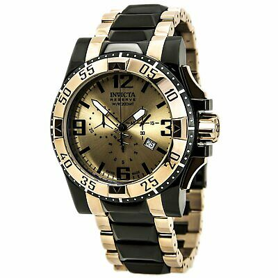 Invicta 80380 Men's Excursion Chronograph Dive Rose Gold Dial Two Tone Bra Watch