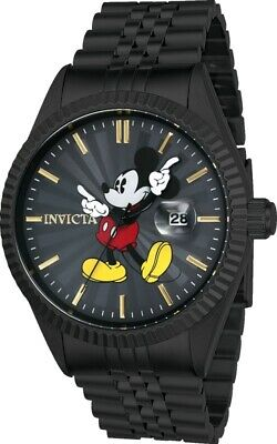 Invicta 22771 Men's Disney Edition Charcoal Dial Black IP Stainless Steel Watch