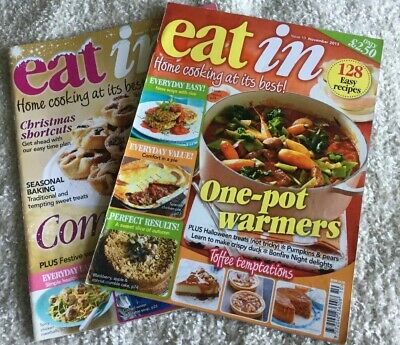 Eat In Magazine x 2 Issues 10 and 11 November and December 2013