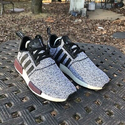 official photos 11d7a 7ee63 Adidas NMD R1 Wool Grey Burgundy Champs Boost PK Mens Size 8 Rare B39506