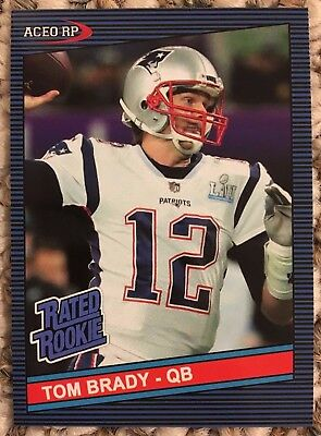 Tom Brady 1986 Donruss What If Novelty ACEO RC Card