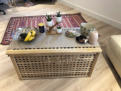 Ikea Hol Storage Tables Solid Wood And Durable Coffee