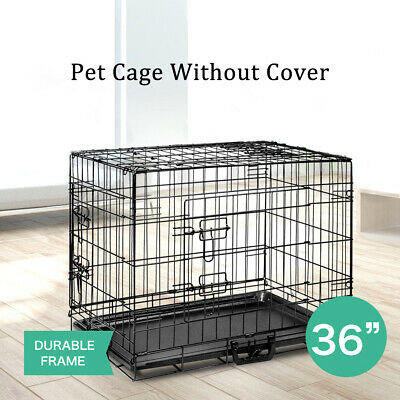 Pet Dog Pet Cage Kennel Cat Collapsible Wire Metal Crate Kennel Puppy House 36""