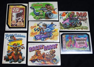 7 Topps Chewing Gum Trade Card Wacky Packages Decal Stickers 1980 Vintage