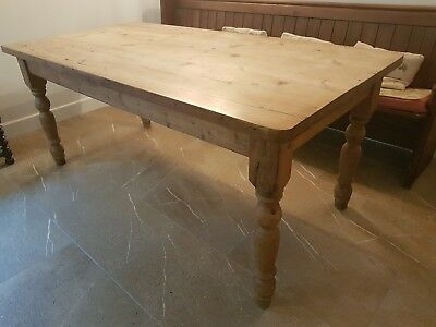 Vintage, Solid, Pine Table 6ft Long