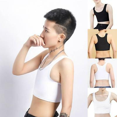 Short Chest Breast Vest Breathable Buckle Binder Trans Lesbian-Tomboy-Cospl A6R1