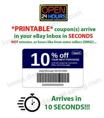 Lowes 10% off In$tant Delivery Discount Online/InStore Exp 3/24 **USE TODAY*