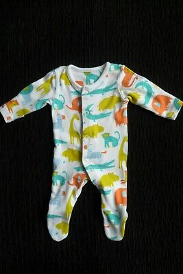 Baby clothes BOY premature/tiny<6lbs/2.8kg bright animals babygrow SEE SHOP
