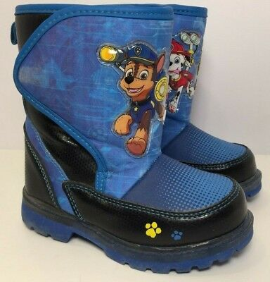 2c485ed31c03 PAW PATROL Toddler Boys Insulated Light Up Winter Snow Boots (Size 8)