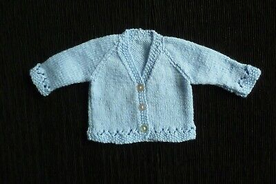 Baby clothes BOY premature/tiny<5lbs/2.3kg blue, soft, thin cardigan SEE SHOP!