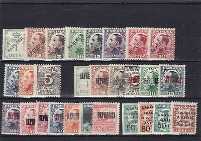 0257 Spain ( Civil War) Nice selection of stamps see scan