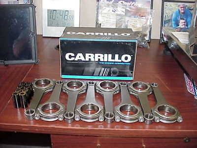 """8 Carrillo 6.00"""" H Beam Connecting Rods with Bolts & DLC Wristpins FREE SHIPPING"""