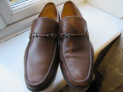 93377240fdedd9 Mens Barker England Brown Leather Loafers - Size 8