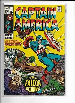 CAPTAIN AMERICA 126 Marvel Comic with THE FALCON 1970 - Avengers