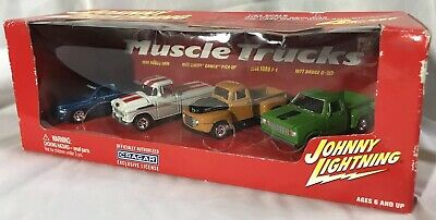 Johnny Lightning Muscle Camions 4 Coffret (Cragar) 1:64 Moulage sous Pression