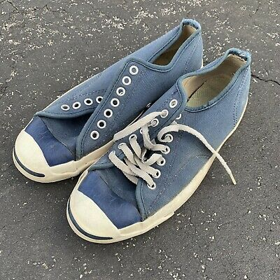 55cb92cb398a6a Vintage Converse Jack Purcell 60s 70s Made in USA Posture Foundation Navy  Sz 6.5
