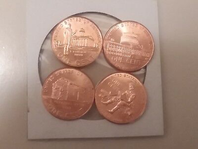 2009 US Lincoln Bicentennial Pennies, Uncirculated in Gem Mint Condition
