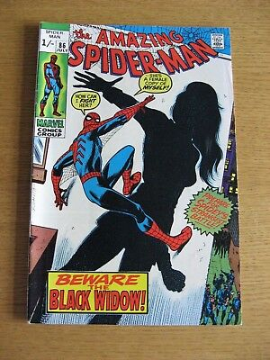 Amazing Spiderman #86 (1970 Marvel) [NM- condition] App Black Widow