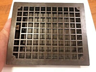 1800's 10x12 Victorian Cast Iron Floor Heat Grate Register Oiled & Cleaned