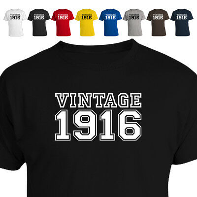 Vintage 1916 103rd Birthday Gift T Shirt 018 Many Sizes and Colours